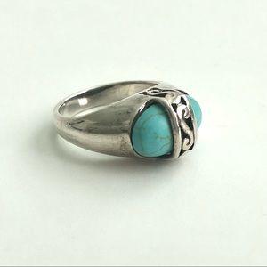 Premier Designs Bonita Sterling Turquoise Ring